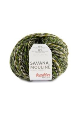 Savana Mouliné Kleur 204 - Groen-Geelgroen-Grijs