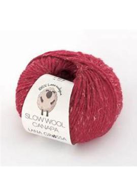 Slow Wool Canapa Kleur 11 Rood