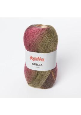 Stella Kleurnummer 72 - Licht bruin-Fuchsia-Mosgroen