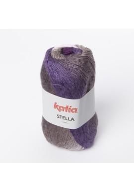 Stella Kleurnummer 75 - Ecru-Grijs-Medium grijs-Lila