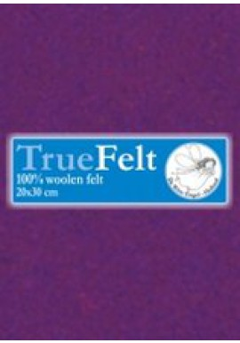 TrueFelt, 20x30 cm, donkerpaars