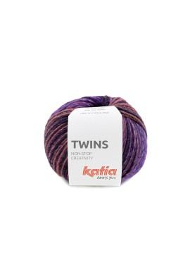 Twins Kleurnummer 154 - Bleekrood-Parelmoer-lichtviolet-Kaki-Wijnrood