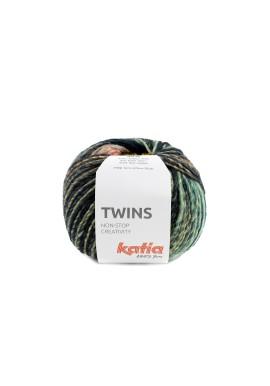 Twins Kleurnummer 156 - Turquoise-Geel-Koraal