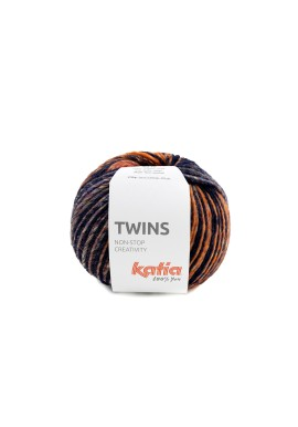 Twins Kleurnummer 157 - Bordeauxpaars-Oranje-Blauw