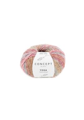 Yoga Kleurnummer 206 - Hemelsblauw-Bleekrood-Rood