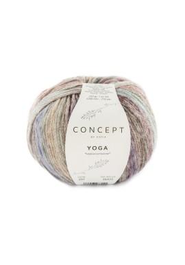 Yoga Kleurnummer 207 - Turquoise-Bruin-Fuchsia