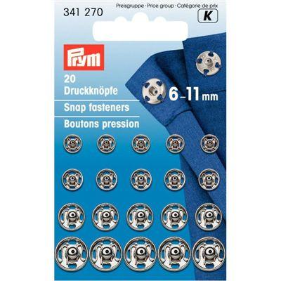 Prym Drukker 6-11mm Zilver
