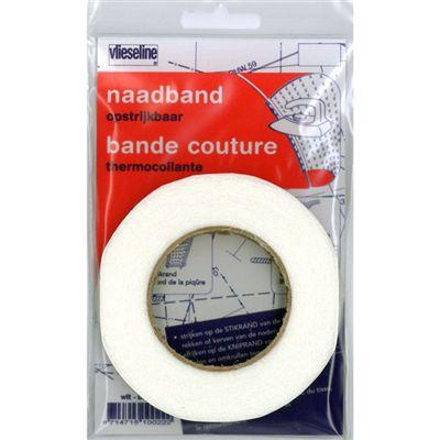 Vlieseline Naadband Strijkbaar Wit