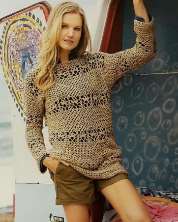 Vlotte gehaakte trui